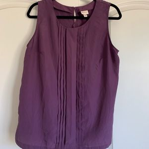 Women's Purple Pleated Blouse
